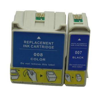 007/008 - Cartouches d'encre équivalent EPSON T007-T008 COMPATIBLE NOIR + COULEURS