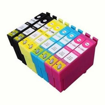 """1285 - Cartouche d'encre équivalent EPSON T1285 compatible X 8 """"Renard"""" PACK 8 CARTOUCHES"""