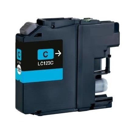 123 - Cartouche d'encre équivalent BROTHER LC-123C compatible (LC123) CYAN