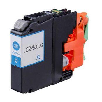 225 - Cartouche d'encre équivalent BROTHER LC-225XLC compatible (LC225) CYAN