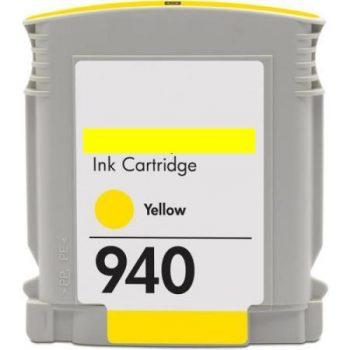 940 - Cartouche d'encre équivalent HP-940XL compatible C4909AE (HP940) JAUNE XL