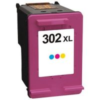 302 – Cartouche d'encre compatible équivalent HP 302XL – F6U67AE (HP302) TRICOLOR XL