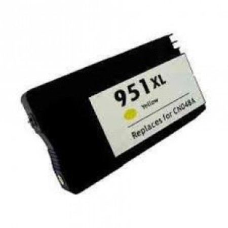 951 – Cartouche d'encre équivalent HP-951XL compatible CN048AE (HP951) JAUNE XL