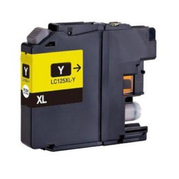 125 - Cartouche d'encre équivalent BROTHER LC-125XLY compatible (LC125) JAUNE