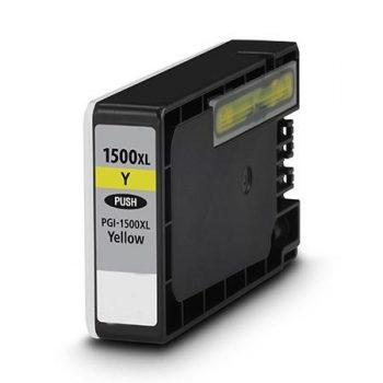 1500 - Cartouche d'encre équivalent CANON PGI-1500XLY compatible 9195B001 (PGI1500) - JAUNE XL
