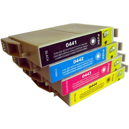 0445 - Cartouche d'encre équivalent EPSON T0445 compatible « Parasol » MULTIPACK 4 COULEURS