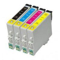 0615 - Cartouche d'encre équivalent EPSON T0615 compatible « Ourson » PACK 4 CARTOUCHES
