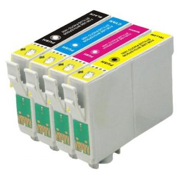 1295 - Cartouche d'encre équivalent EPSON T1295 compatible « Pomme » PACK 4 COULEURS
