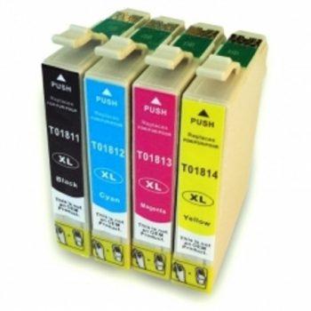 1816 - Cartouche d'encre équivalent EPSON T1816 compatible « Pâquerette » PACK 4 COULEURS XL