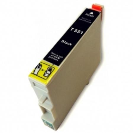 """0551 - Cartouche d'encre équivalent EPSON T0551 compatible """"canard"""" NOIR"""