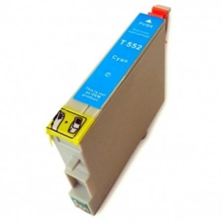 """0552 - Cartouche d'encre équivalent EPSON T0552 compatible """"Canard"""" CYAN"""