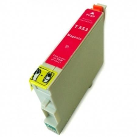 """0553 - Cartouche d'encre équivalent EPSON T0553 compatible """"Canard"""" MAGENTA"""