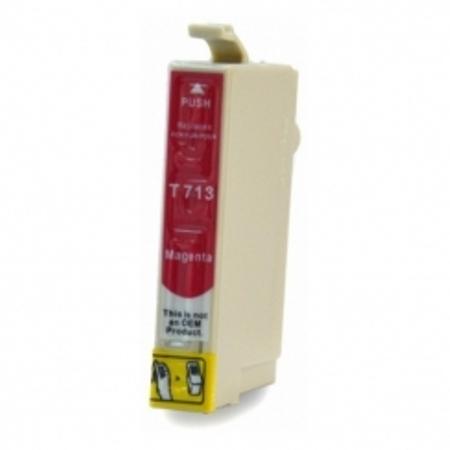 0713 - Cartouche d'encre équivalent EPSON T0713 compatible (T0893) « Guépard et Singe » MAGENTA
