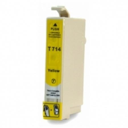 0714 - Cartouche d'encre équivalent EPSON T0714 compatible (T0894) « Guépard et Singe » JAUNE