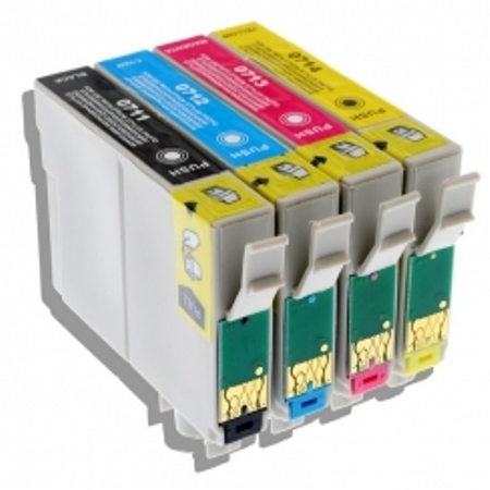 0715 - Cartouche d'encre équivalent EPSON T0715 compatible (T0895) « Guépard et Singe » PACK 4 COULEURS