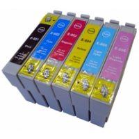 0807 – Cartouche d'encre équivalent EPSON T0807 compatible (T0797) «Colibri et Chouette»PACK 6 COULEURS