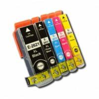 2636 - Cartouche d'encre équivalent EPSON T2636 compatible « Ours Polaire » PACK 5 COULEURS XL