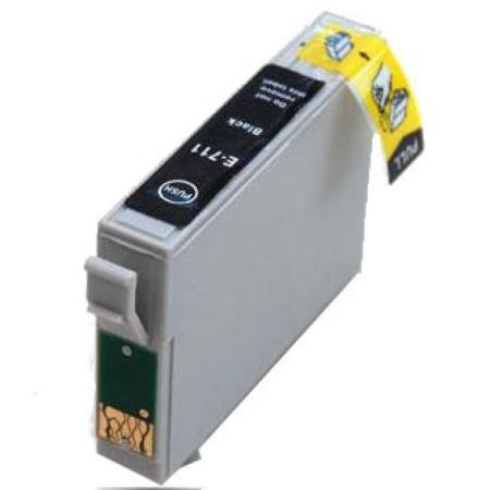 """0711 - Cartouche d'encre équivalent EPSON T0711 compatible (T0891) """"Guépard et Singe"""" NOIR"""