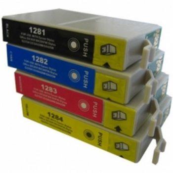"""1285 - Cartouche d'encre équivalent EPSON T1285 compatible """"Renard"""" PACK 4 COULEURS"""