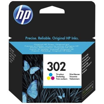 302 - HP 302 Cartouche d'encre Trois couleurs (Cyan,Magenta,Jaune) originale (F6U65AE)