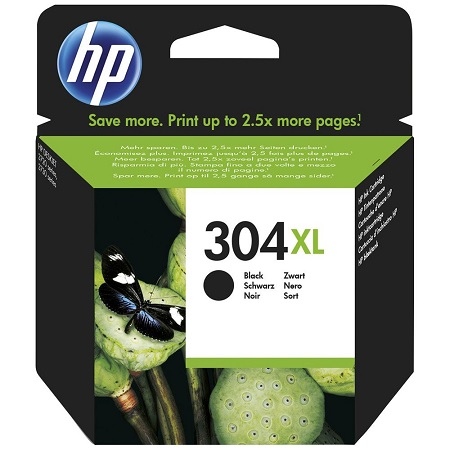 304 - HP 304XL Cartouche Noire originale grande capacité (N9K08AE)