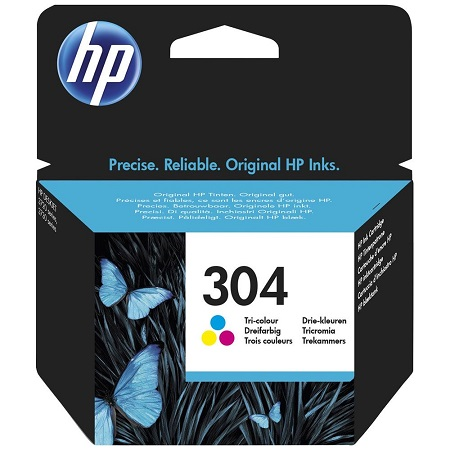 304 - HP 304 Cartouche Trois couleurs (Cyan,Magenta,Jaune) originale (N9K05AE)