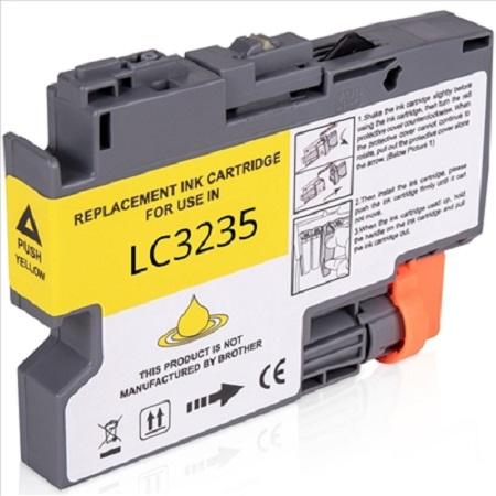 Cartouche d'encre équivalent BROTHER LC 3235 compatible (LC3235) Jaune