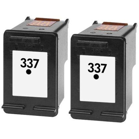 337 – Cartouche d'encre équivalent HP 337 compatible C9364EE X 2 (HP337) NOIR X 2