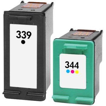 339/344 - Cartouche d'encre équivalent HP 339/344 compatible - C8767EE/C9363EE NOIR + TRICOLOR