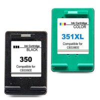 350/351 - Cartouche d'encre équivalent HP 350XL/HP 351XL compatible (HP350-351) NOIR + TRICOLOR
