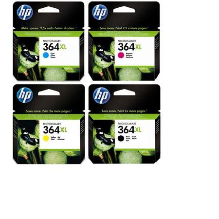 364 – Cartouche d'origine HP 364XL x 4 (HP364) PACK 4 COULEURS XL