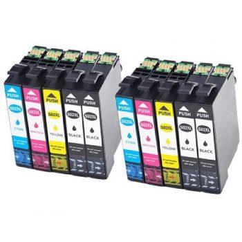 EPSON compatibles 502 XL ( série jumelles) Pack 10