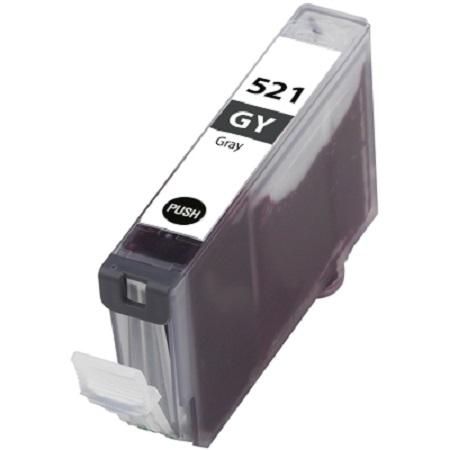 521 - Cartouche d'encre équivalent CANON CLI-521GY compatible 2937B001 (CLI521) - GRIS