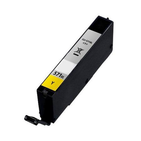 571 - Cartouche d'encre équivalent CANON CLI-571Y XL compatible 0334C001 (CLI571) - JAUNE XL