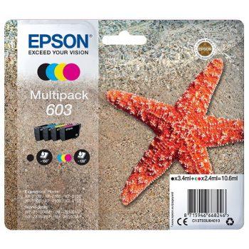 EPSON 603 ( série étoile de mer) Pack 4 cartouches originales