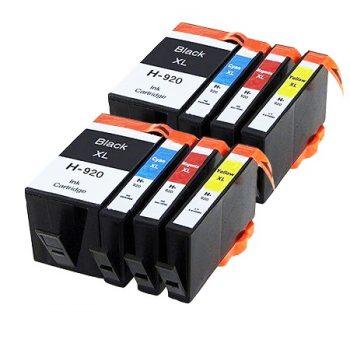 920 - Cartouche d'encre équivalent HP-920XL compatible (HP920) PACK 8 CARTOUCHES XL / 4 COULEURS XL
