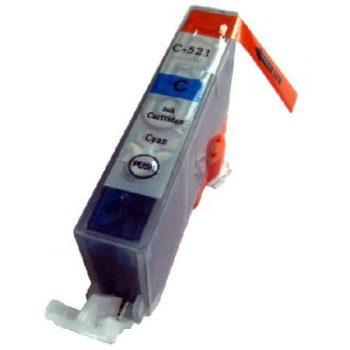 521 - Cartouche d'encre équivalent CANON CLI-521C compatible 2934B001 (CLI521) - CYAN