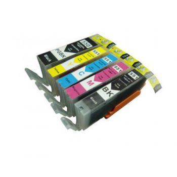 550 - Cartouche d'encre équivalent CANON PGI-550-CLI-551 compatible (PGI550/CLI551) PACK 5 CARTOUCHES XL