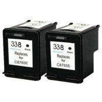 338 - Cartouche d'encre équivalent HP 338 compatible C8765EE X 2 (HP338) NOIR X 2