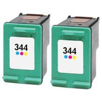 344 - Cartouche d'encre équivalent HP 344 compatible C9363EE X 2 (HP344) TRICOLOR X 2