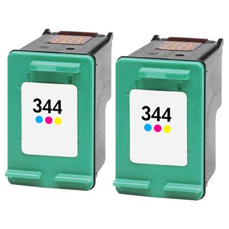 Cartouche d'encre équivalent HP 344 compatible C9363EE X 2 (HP344) TRICOLOR X 2