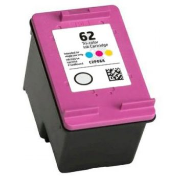 62 - Cartouche d'encre équivalent HP-62 compatible C2P07AE (HP62) TRICOLOR