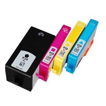 920 - HP compatible 920XL Pack de 4 cartouches d'encre (Noir + 3 couleurs) grande capacité (C2N92AE)