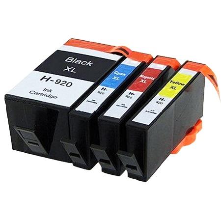 920 – Cartouche d'encre compatible équivalent HP 920XL – C2N92AE (HP920) PACK 4 CARTOUCHES XL