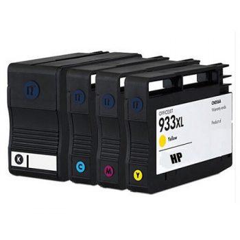 933/932 - Cartouche d'encre équivalent HP-933XL-HP-932XL-C2P42AE compatible (HP933-HP932) PACK 4 CARTOUCHES XL
