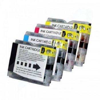 1000 - Cartouche d'encre compatible équivalent BROTHER LC-1000VALBP (LC1000) PACK 4 COULEURS