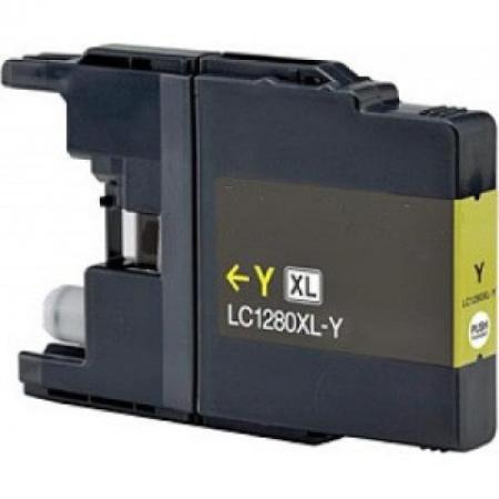 1280 - Cartouche d'encre équivalent BROTHER LC-1280XLY compatible (LC1280) JAUNE