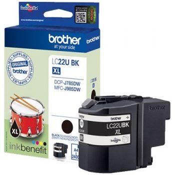 """Brother originale LC22U à très haut rendement """"série tambour """" Noir"""