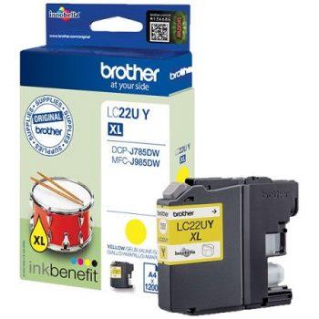 "Brother originale LC22U à très haut rendement ""série tambour "" Jaune XL"