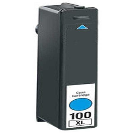 100 - Cartouche d'encre équivalent LEXMARK 100XL 14N1069E compatible CYAN XL